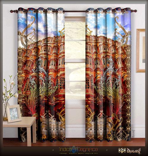Digital Print Monumental Designer Door Curtains