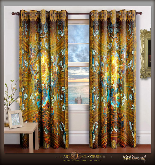Digital Print Luxury Designer Room Door Curtain