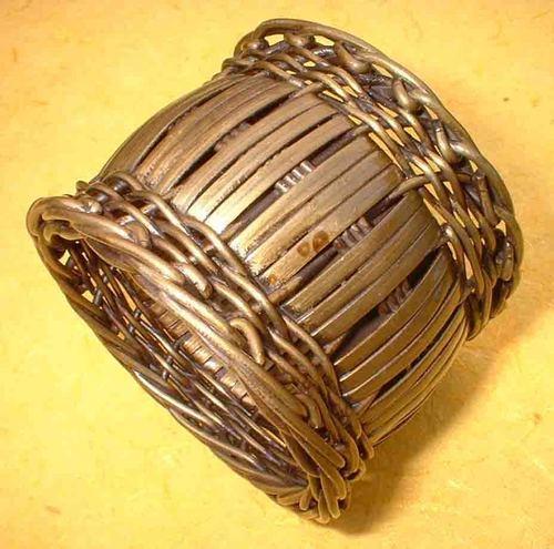 aluminium basket weave Napkin Ring