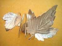 brass embossed leaves Napkin Ring