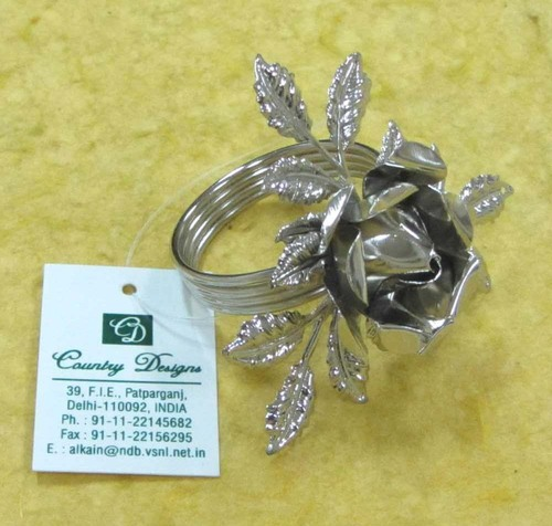 metal flower silver plated Napkin Ring