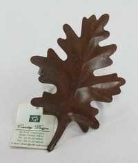 iron autumn leaf Napkin Ring