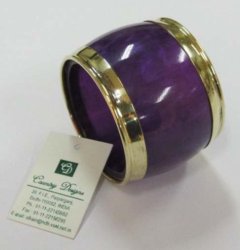 resin brass bordess Napkin Ring