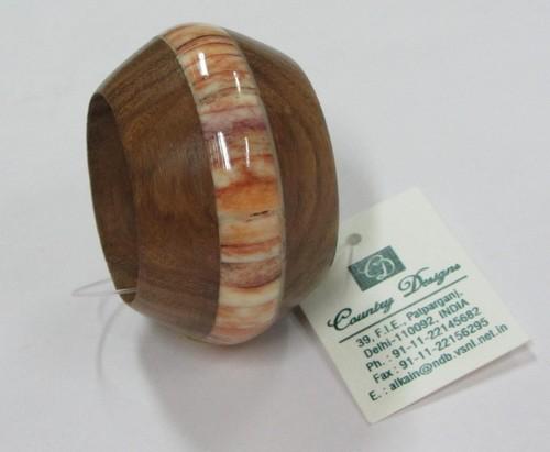 wood & bone combo Napkin Ring