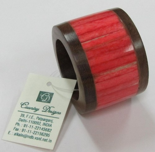 Napkin Ring wood & bone combo