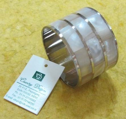 brass mop inlaid Napkin Ring