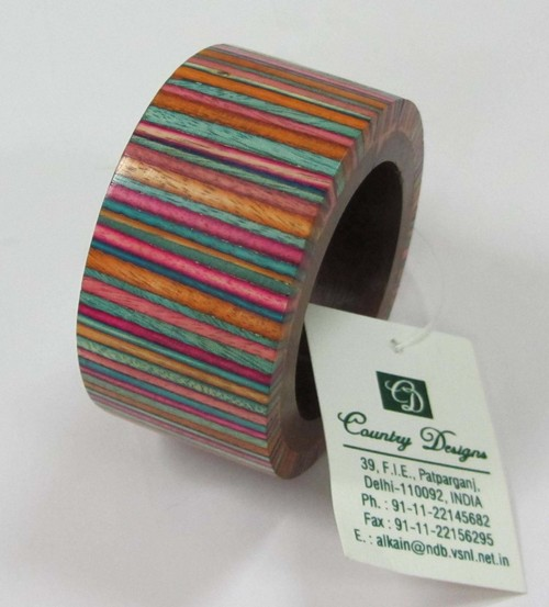 wood multi colored Napkin Ring