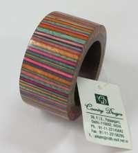wood multi colored Napkin Ring