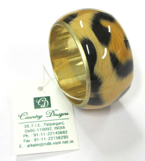 metal leather combo Napkin Ring