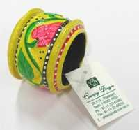 wooden hand painted Napkin Ring