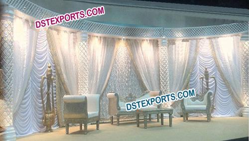 Wedding Stylish Crystal Pillar Stage