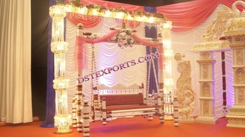 WEDDING CRYSTAL STAGE WITH SWING