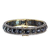 Pave Diamond Black Spinel Gemstone Bracelet