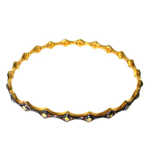925 Sterling Silver Diamond Sleek Bangle Jewelry