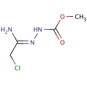 2-(2-Chloro-1-iminoethyl)hydrazine-carboxylic acid methyl ester
