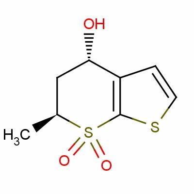 (4S,6S)-5,6-Dihydro-4-hydroxy-6-methylthieno[2,3-b]thiopyran-7,7-dioxide