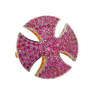 Yellow Gold Ruby Gemstone Fashion Ring