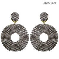 Natural Diamond Pave Dangle Earrings