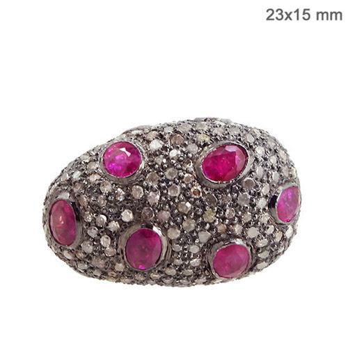 Pave Balls & Gemstone Beads Jewelry