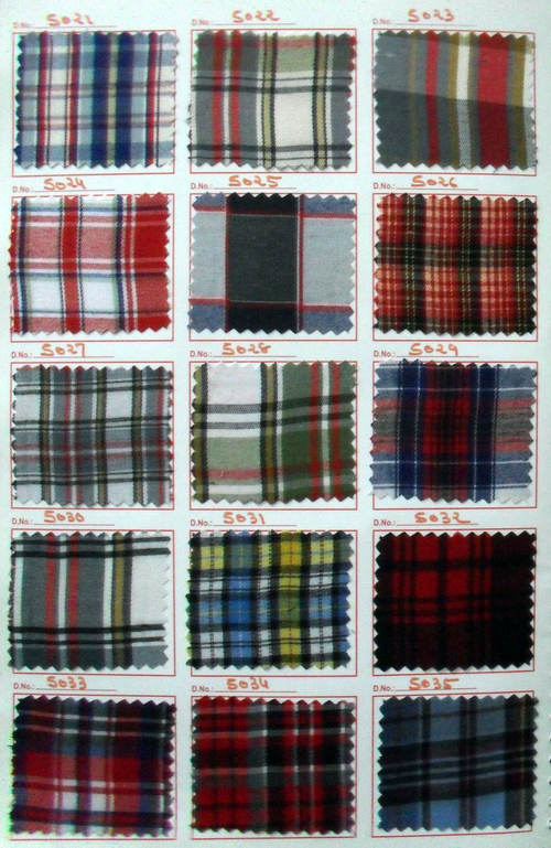 Scottish twill checks uniform fabric