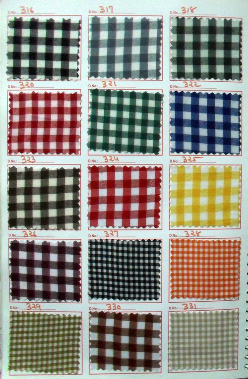 Plaid School Uniform Fabric