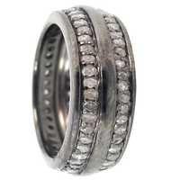 纯银金刚石带圆环