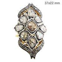 Rose Cut Diamond Victorian Ring