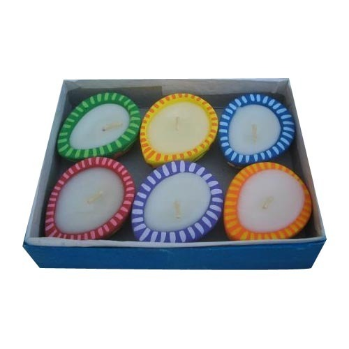 Papiermashe Egg Shape Candles