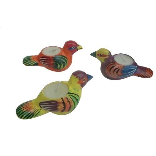 Papiermashe Bird Shape Candles