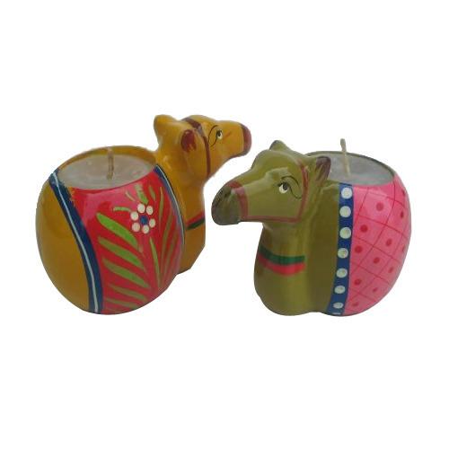 Papiermashe Camel Shape Candles