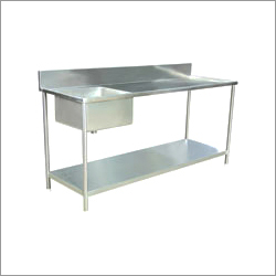 Stainless Steel Table With Sink