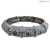 Pave Diamond Vintage Bracelet Bangle