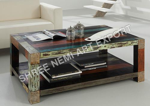 Reclaimed Wooden Tea Table