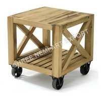 Industrial Wooden Stool