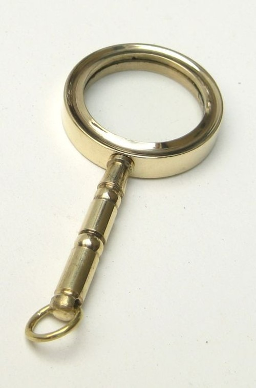 Miniature brass magnifying glass