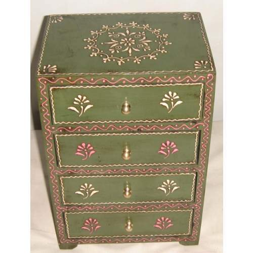 Wooden Painted Four Drawers Chest