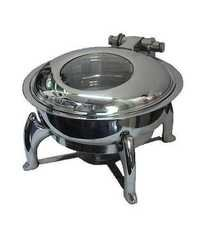 Round Glass Lid Chafer with Fuel Burner