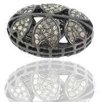 Designer Diamond Studded Silver Finding