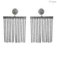 Diamond Pave Chain Chandelier Earrings