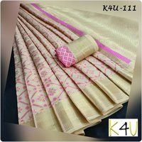 Exclusive Designer Cotton Silk Saree