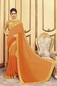 Exclusive Designer Georgette Saree
