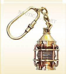 Brass nautical key chain lantern