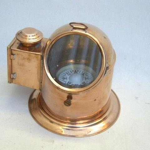 Copper and brass binnacle 7