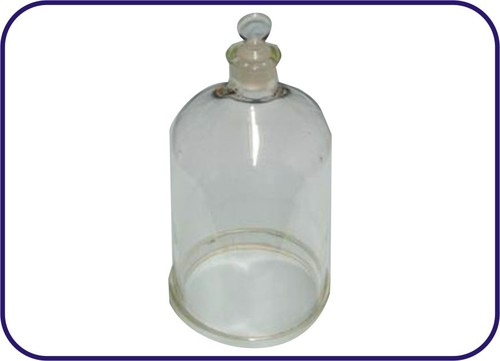BELL JAR WITH STOPPER ON TOP AND GROUND RIM (OPEN AT TOP)