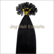 Jet Black Nail Tip Hair Extension