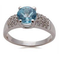 blue topaz jewelry supplier, wholesale gemstone silver jewelry