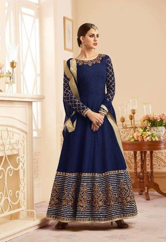 Salwar embroidery heavy silky designer embroidery