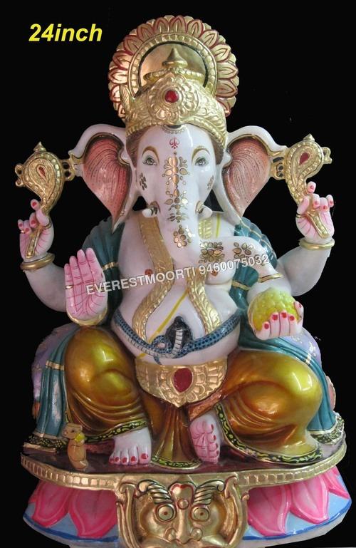 Aandhi Marble Ganesh Statue