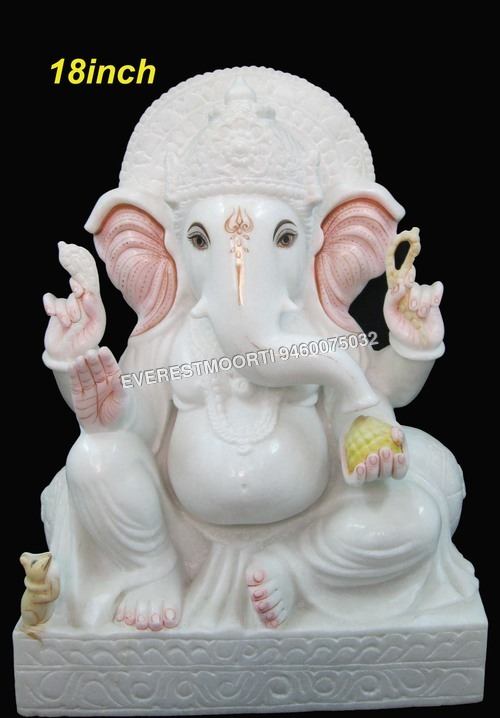 Ganesh marble Statue 18""