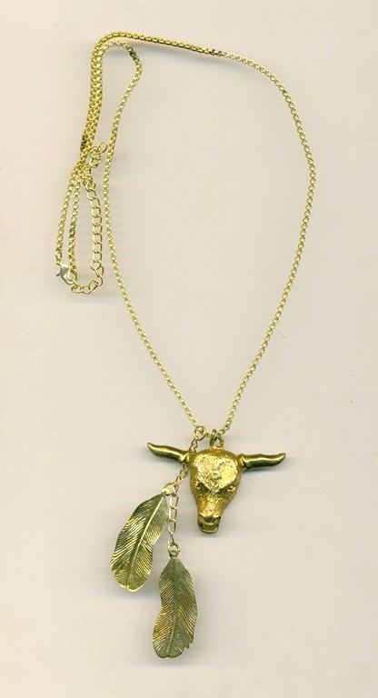 metal Necklace with animan head